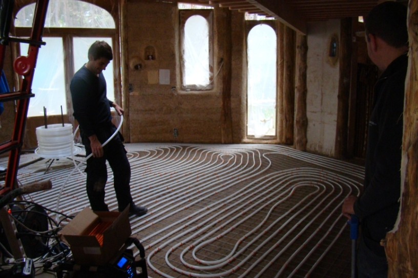 DSC04911 - 2017-10-27, Placement of the underfloor heating