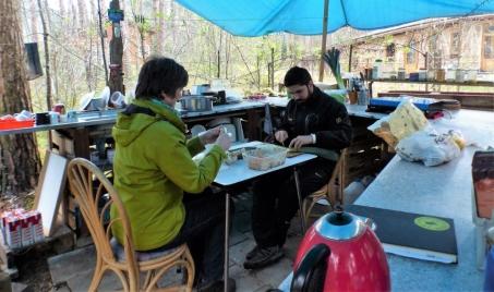 Sabine en Juan koken