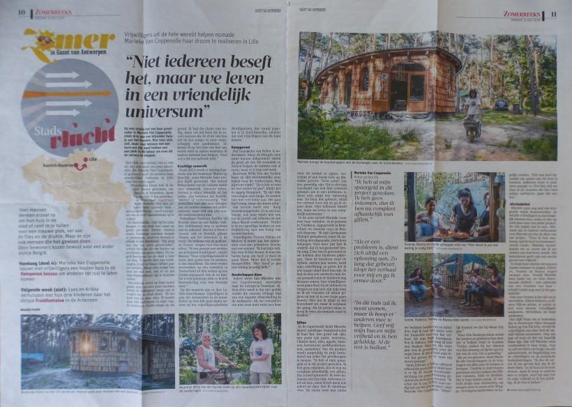 2018-07-31 Artikel in Gazet van Antwerpen